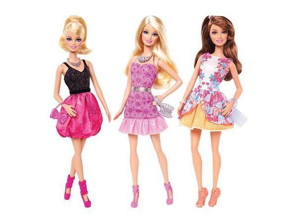 Купить Кукла Barbie Барби Гламурная вечеринка - серия Игра с модой (Mattel) в интернет магазине игрушек и детских товаров