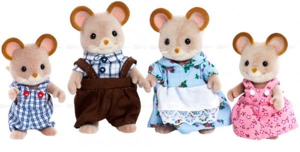 Купить Игровой набор Sylvanian Families Семья городских мышей в интернет магазине игрушек и детских товаров