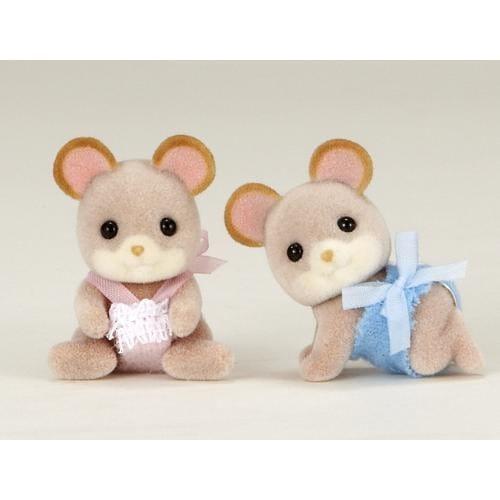 Купить Игровой набор Sylvanian Families Мышки-двойняшки в интернет магазине игрушек и детских товаров