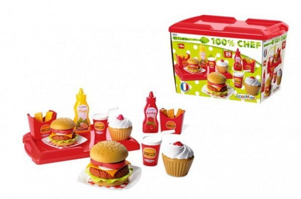 Игровой набор Ecoiffier Французский бургер - 25 предметов