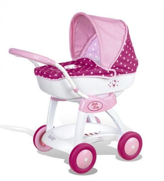 Купить Коляска - люлька Smoby Hello Kitty в интернет магазине игрушек и детских товаров