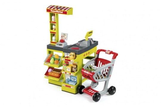 Купить Супермаркет Smoby с тележкой - зеленый в интернет магазине игрушек и детских товаров
