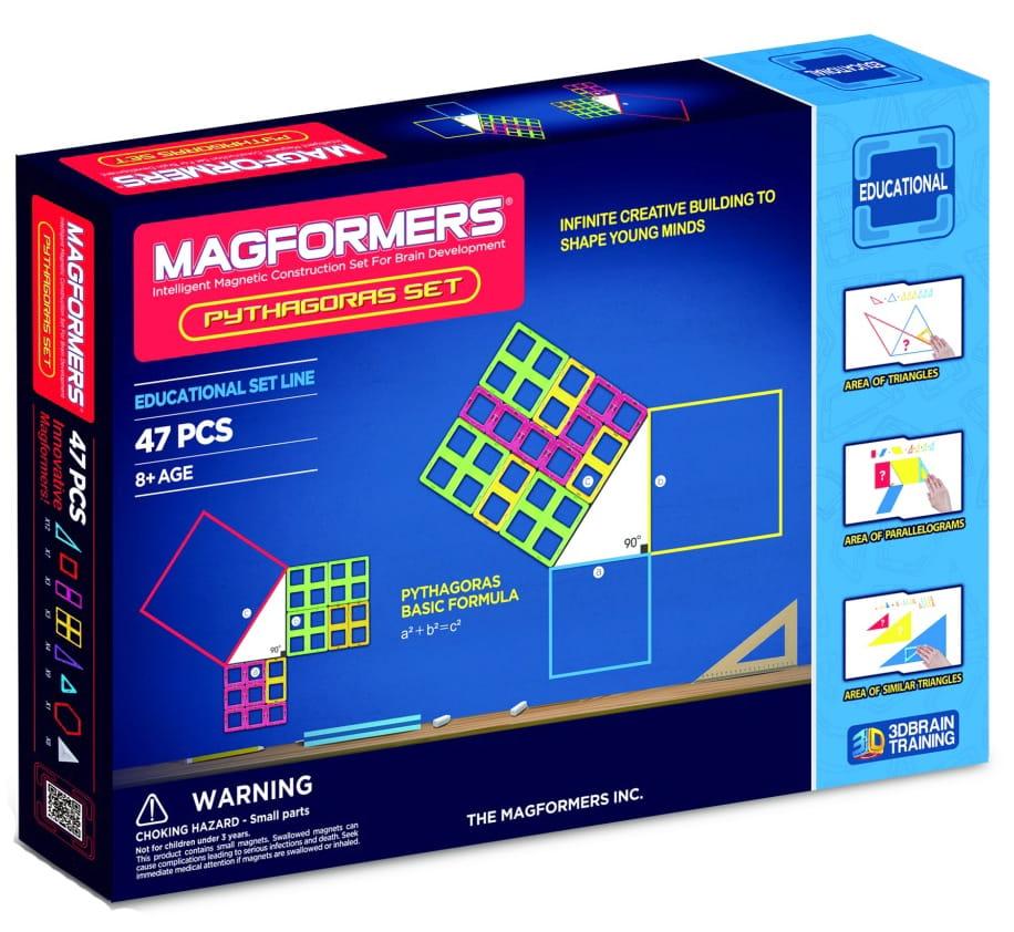 Магнитный конструктор Magformers 711003 (63113) Pythagoras set Пифагор (47 деталей)