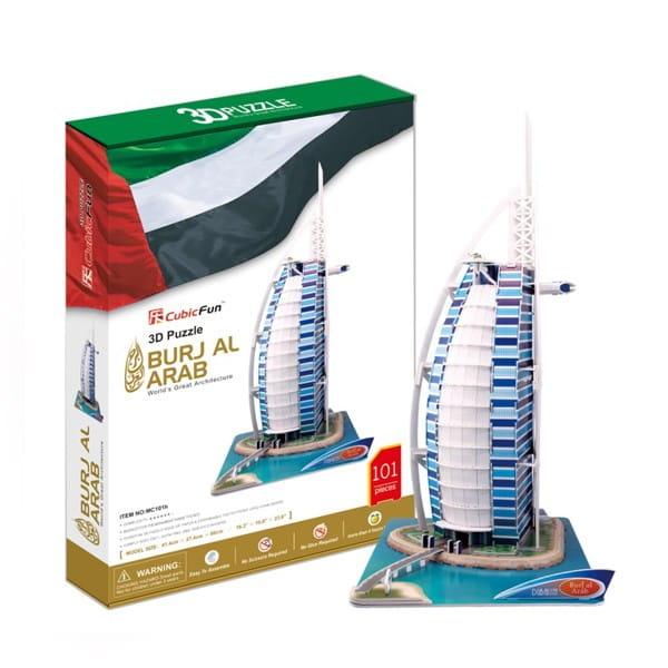 Объемный 3D пазл CUBICFUN Отель Бурж эль Араб (ОАЭ) - 3D-пазлы