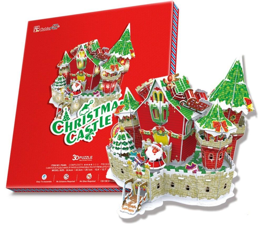 Объемный 3D пазл CUBICFUN Сказочный рождественский замок (с подсветкой)
