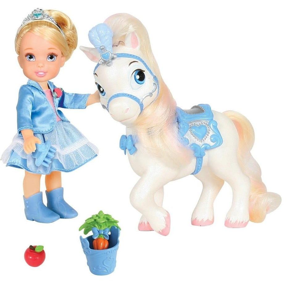 Кукла Disney Princess 755060 Принцессы Дисней Малышка Золушка с конем 15 см