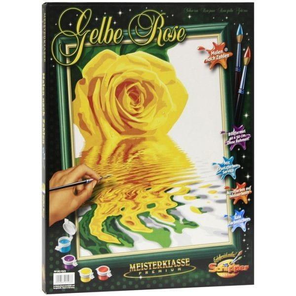 Раскраска по номерам Schipper 9130523 Желтая роза