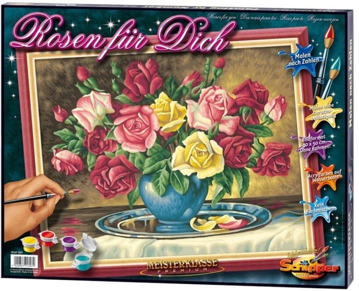 Раскраска по номерам Schipper 9130577 Розы