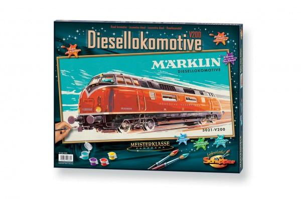 Раскраска по номерам Schipper 9410686 Тепловоз Marklin