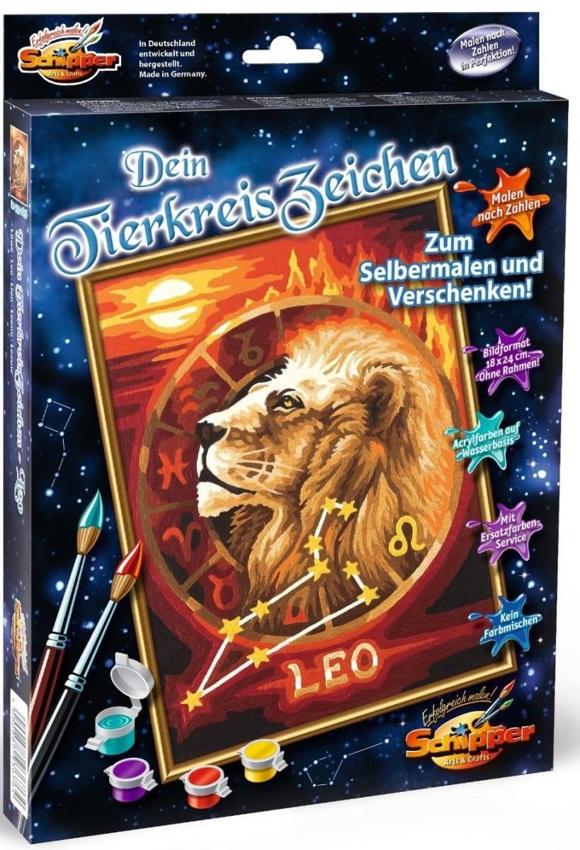 Раскраска по номерам Schipper 9390676 Знаки зодиака - Лев