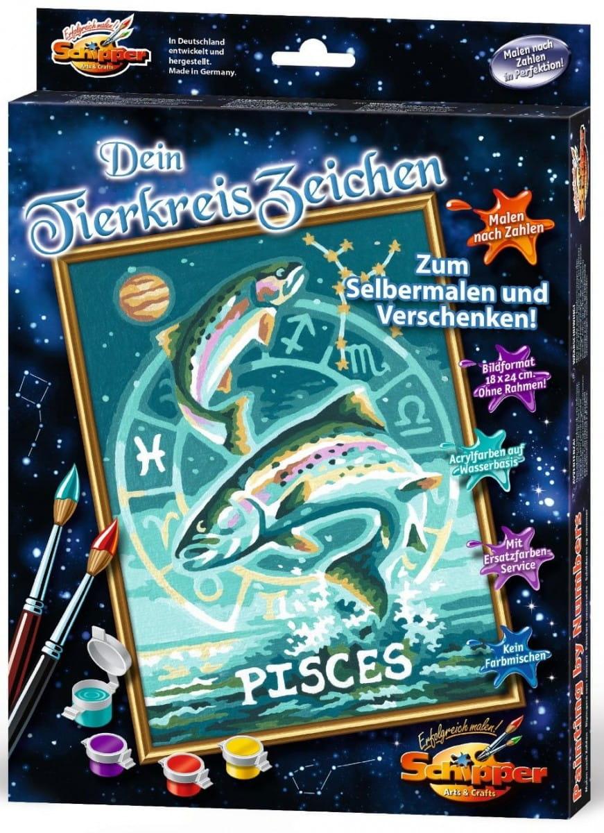 Раскраска по номерам Schipper 9390671 Знаки зодиака - Рыбы