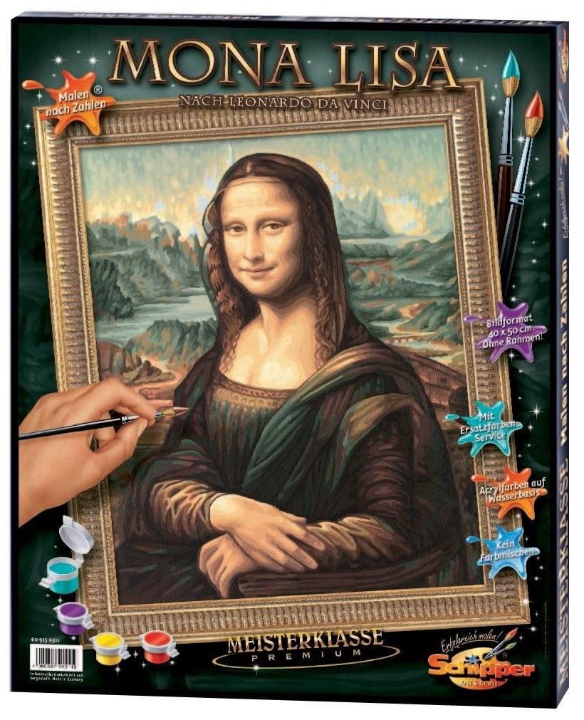 Раскраска по номерам Schipper 9130511 Мона Лиза