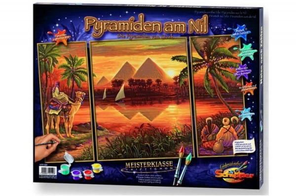 Раскраска по номерам Schipper 9260442 Пирамиды (триптих)