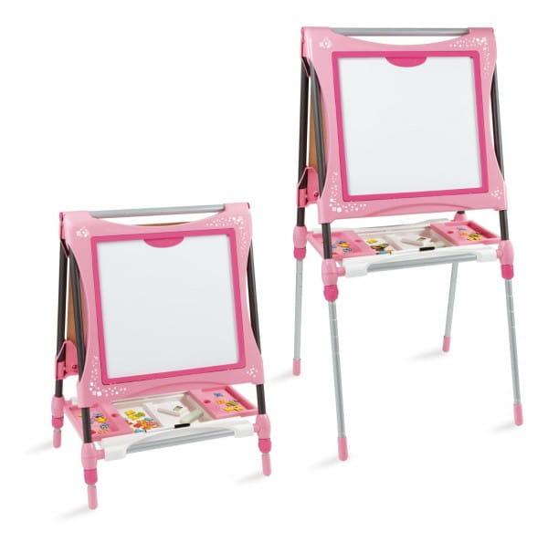 Купить Двухсторонний мольберт Smoby - розовый 2 в интернет магазине игрушек и детских товаров