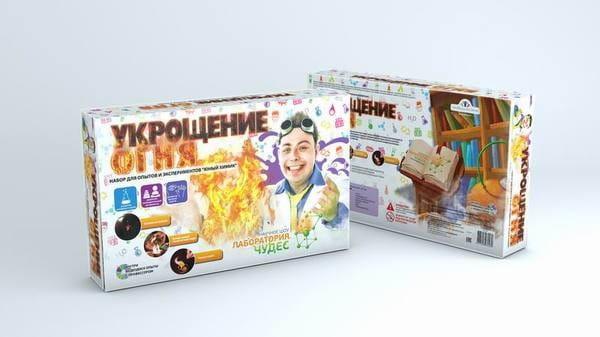 Набор Инновации для детей 826пл Юный химик Опыты с огнем (Секреты сумасшедшего профессора Николя)