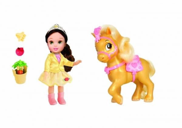 Купить Кукла Disney Princess Принцессы Дисней Малышка Бель с конем 15 см в интернет магазине игрушек и детских товаров