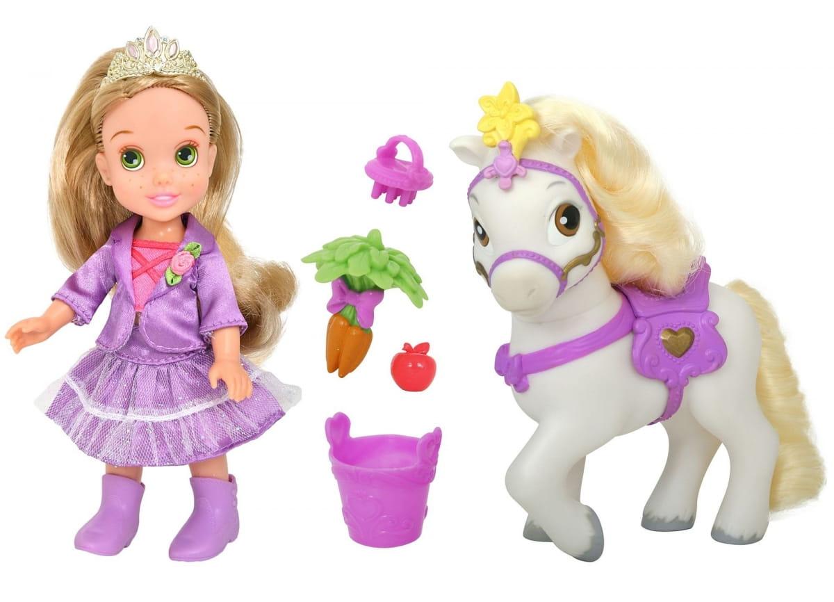 Кукла Disney Princess 755060 Принцессы Дисней Малышка Рапунцель с конем 15 см