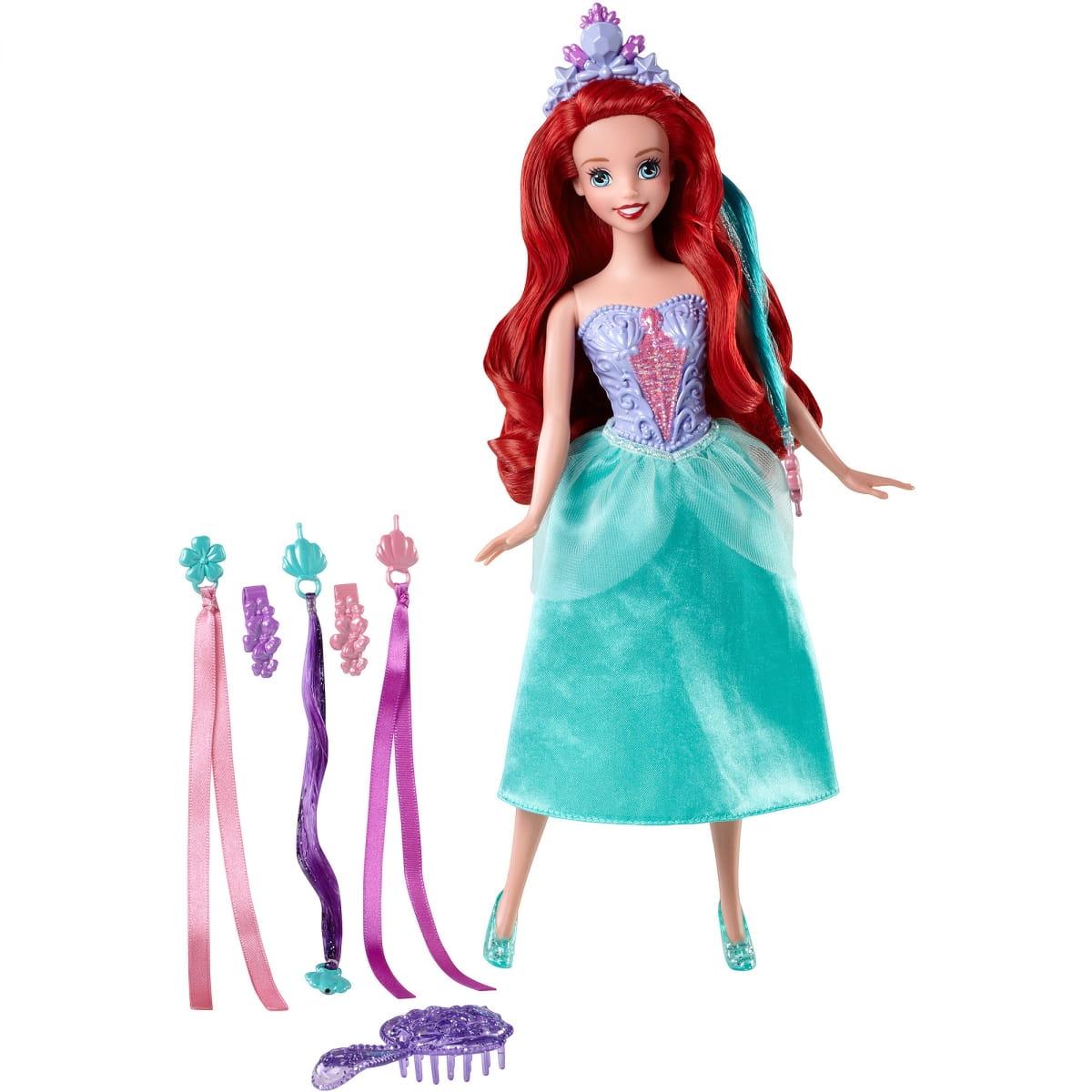 Кукла Disney Princess BDJ48/BDJ49 Модные прически - Ариэль (Mattel)