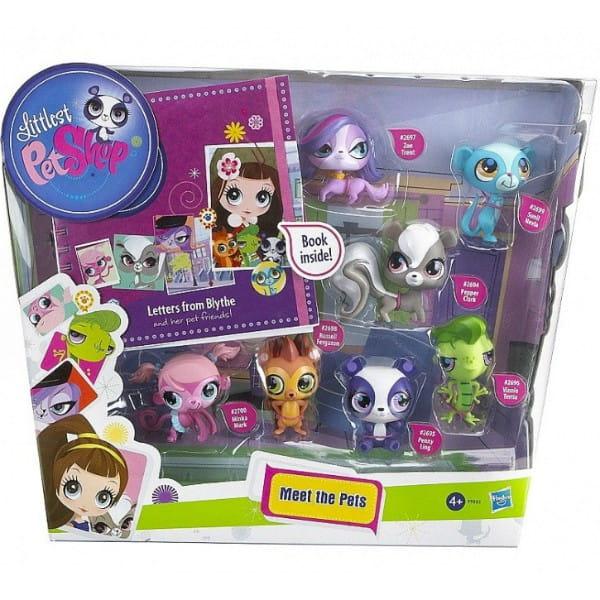 Купить Игровой набор Littlest Pet Shop 7 зверюшек (Hasbro) в интернет магазине игрушек и детских товаров
