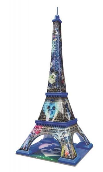 Купить Объемный 3D пазл Ravensburger Микки и Минни - Эйфелева башня (216 деталей) в интернет магазине игрушек и детских товаров