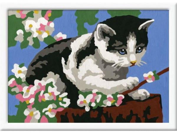 Раскраска по номерам Ravensburger 27857 Котенок в цветах