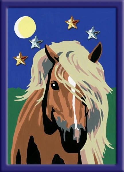 Раскраска по номерам Ravensburger Лошадь в лунном свете