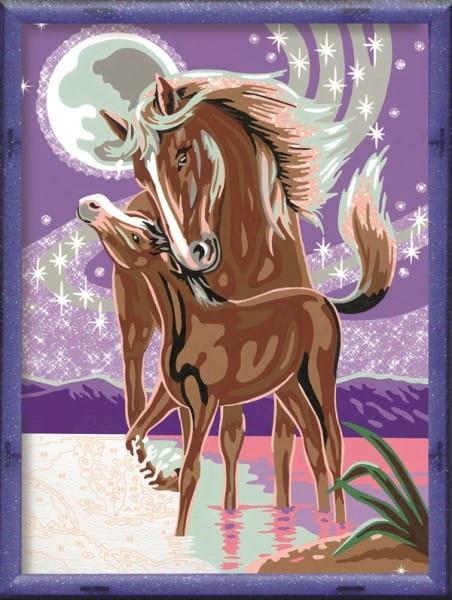 Раскраска по номерам Ravensburger 28087 Лошадь с жеребенком