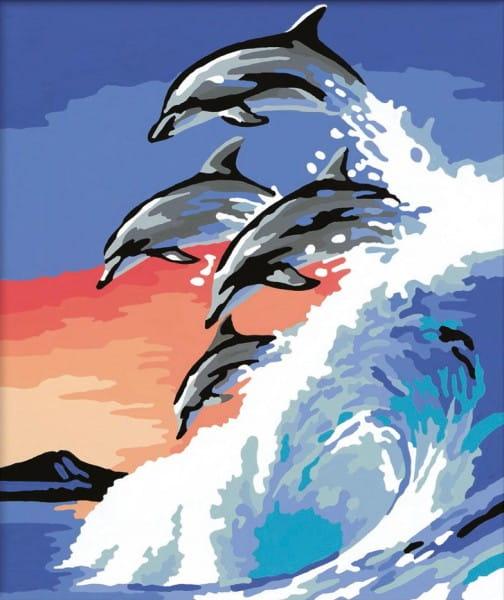 Раскраска по номерам Ravensburger 28154 Дельфины