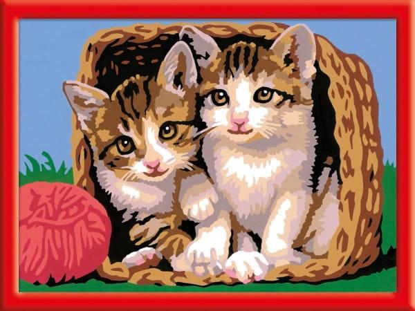 Раскраска по номерам Ravensburger 28178 Котята в корзине