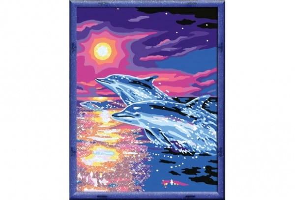 Раскраска по номерам Ravensburger 28202 Дельфины на закате