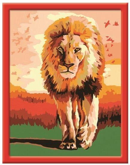 Раскраска по номерам Ravensburger 28225 Гордый лев