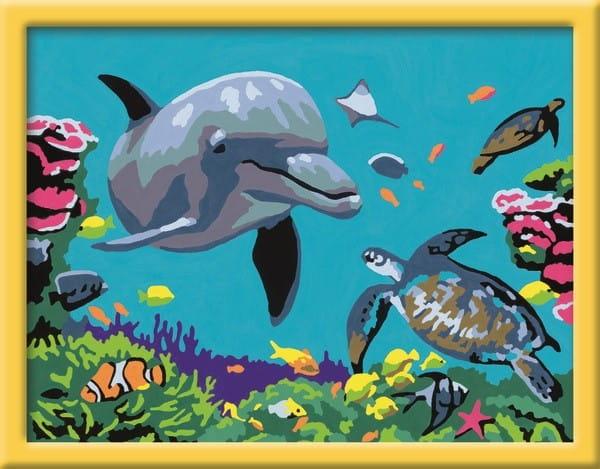 Раскраска по номерам Ravensburger 28246 Подводный мир 2