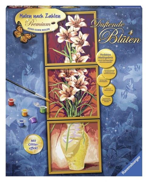 Купить Раскраска по номерам Ravensburger Цветы в интернет магазине игрушек и детских товаров