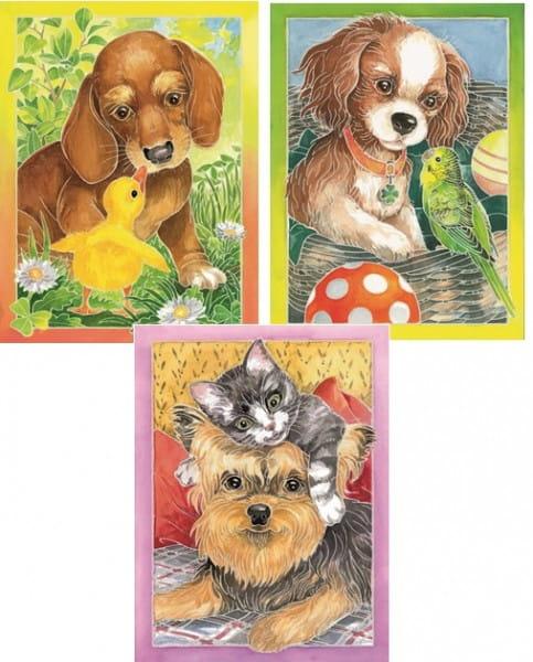 Купить Акварель миди Ravensburger Щенки и их друзья в интернет магазине игрушек и детских товаров