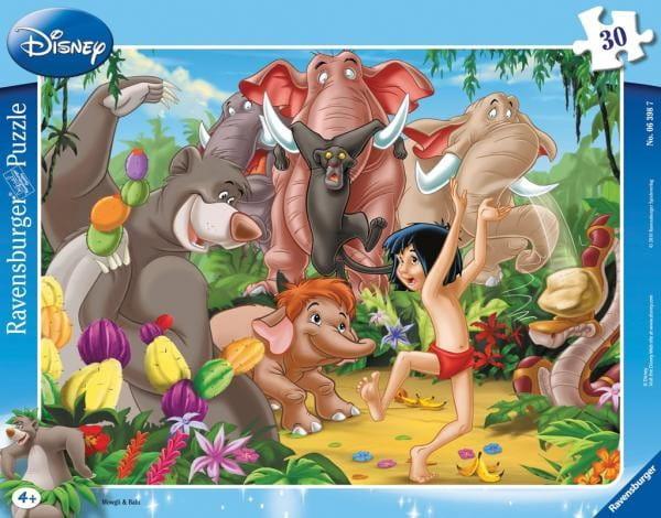 Купить Пазл Ravensburger Книга джунглей - 30 деталей в интернет магазине игрушек и детских товаров
