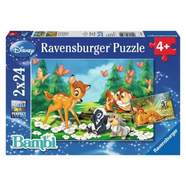 Купить Пазл Ravensburger Мой друг Бэмби 2 в 1 в интернет магазине игрушек и детских товаров