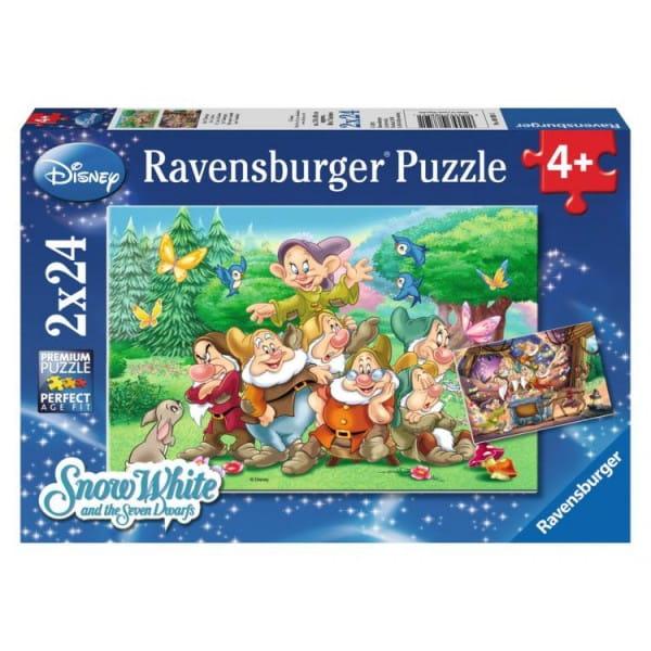 Купить Пазл Ravensburger Семь гномов 2 в 1 в интернет магазине игрушек и детских товаров