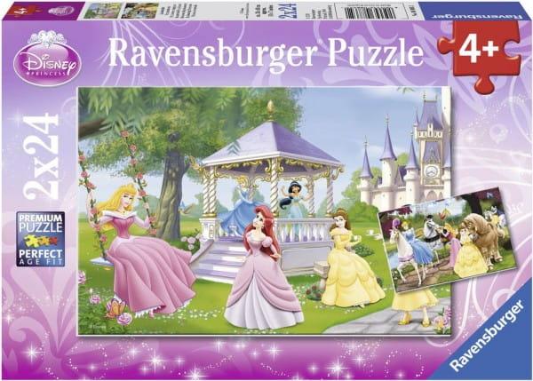 Купить Пазл Ravensburger Волшебные принцессы 2 в 1 в интернет магазине игрушек и детских товаров
