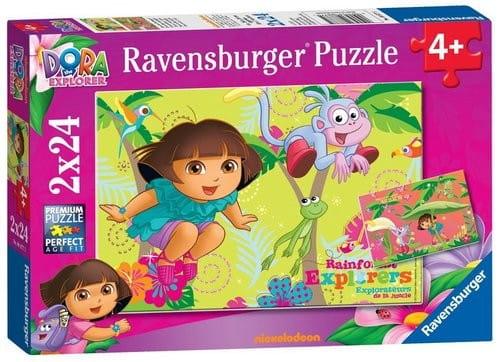 Купить Пазл Ravensburger Дора в джунглях 2 в 1 в интернет магазине игрушек и детских товаров