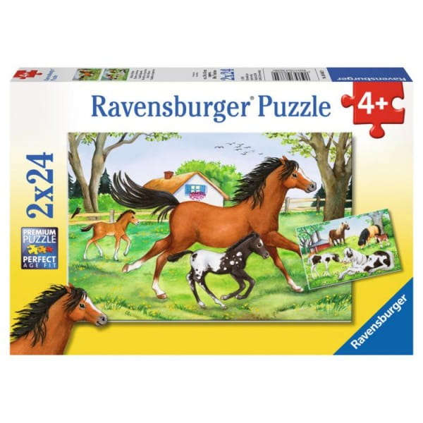 Пазл Ravensburger 08882 Мир лошадей 2 в 1