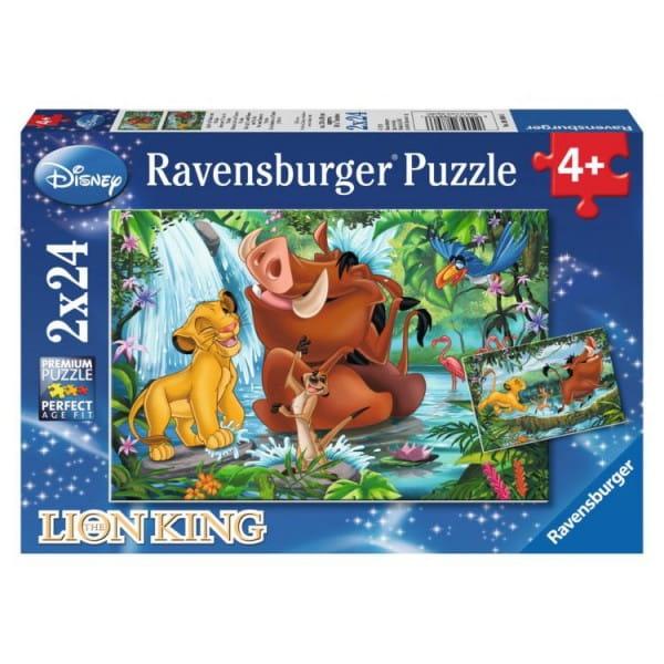 Купить Пазл Ravensburger Симба с Тимоном и Пумбой 2 в 1 в интернет магазине игрушек и детских товаров