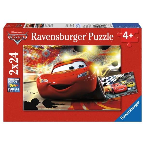 Купить Пазл Ravensburger Тачки Главный заезд 2 в 1 в интернет магазине игрушек и детских товаров