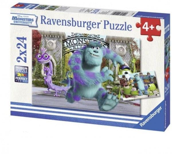 Купить Пазл Ravensburger Университет монстров 2 в 1 в интернет магазине игрушек и детских товаров