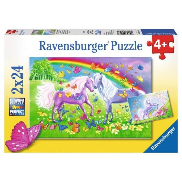 Пазл Ravensburger 09193 Радужные лошади 2 в 1