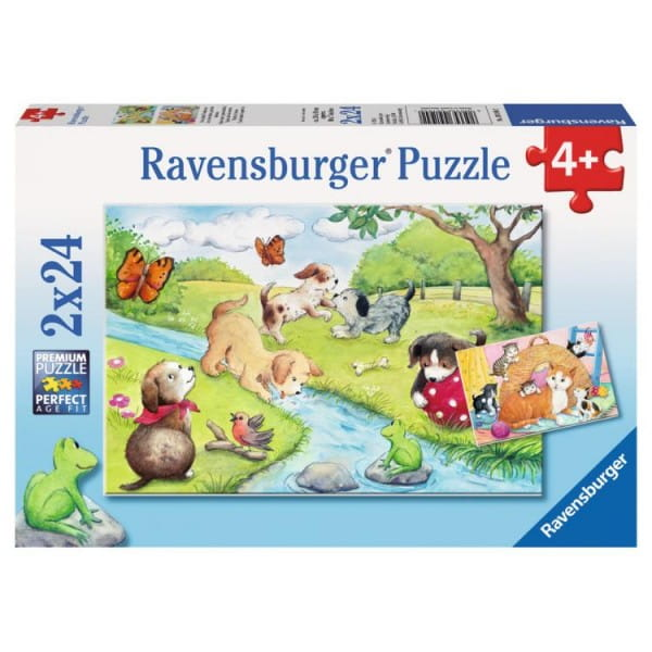 Купить Пазл Ravensburger Веселые животные 2 в 1 в интернет магазине игрушек и детских товаров