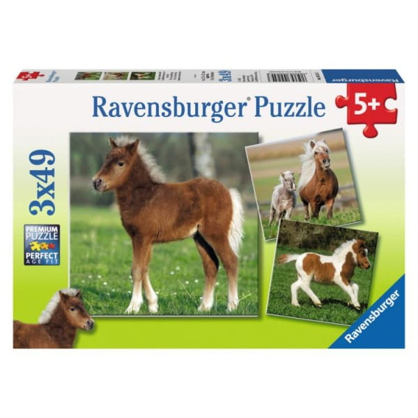Пазл Ravensburger 09254 Веселые пони 3 в 1