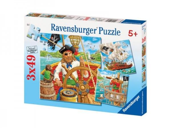 Купить Пазл Ravensburger Приключения пиратов 3 в 1 в интернет магазине игрушек и детских товаров
