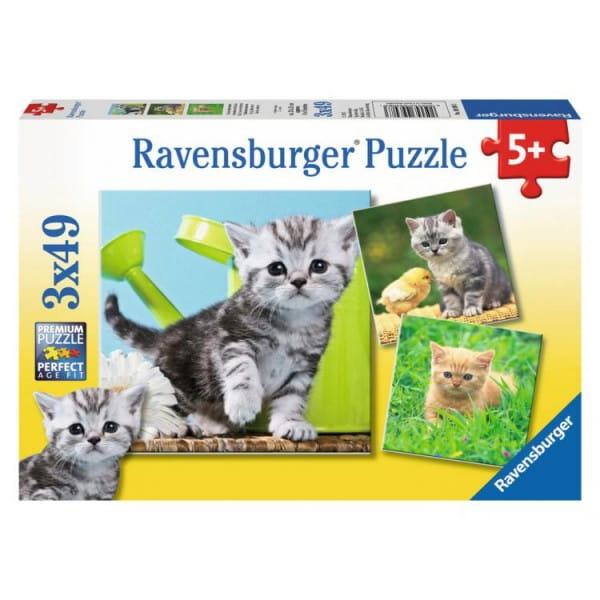 Пазл Ravensburger 09308 Отважный котенок 3 в 1