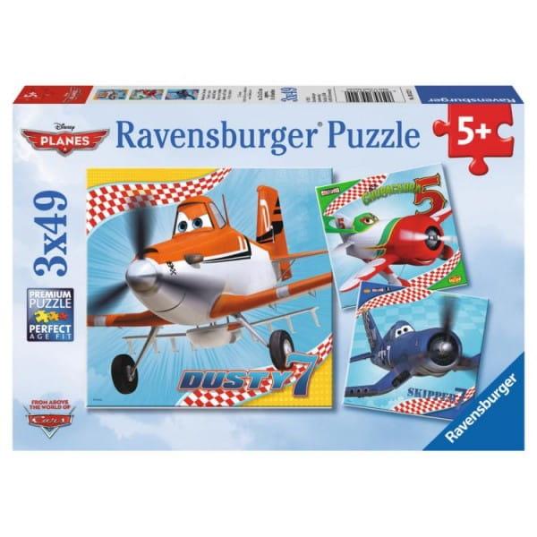 Купить Пазл Ravensburger Дасти и друзья 3 в 1 в интернет магазине игрушек и детских товаров