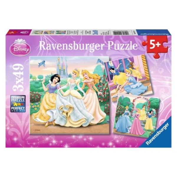 Купить Пазл Ravensburger Прекрасные принцессы 3 в 1 в интернет магазине игрушек и детских товаров